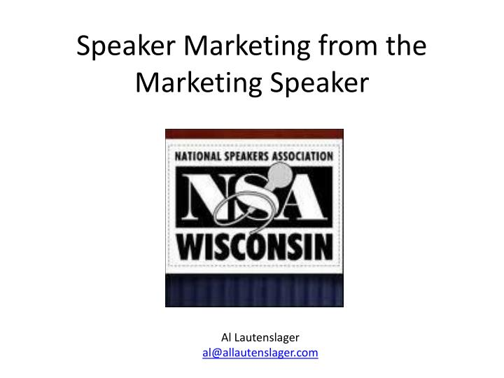 speaker marketing from the marketing speaker n.