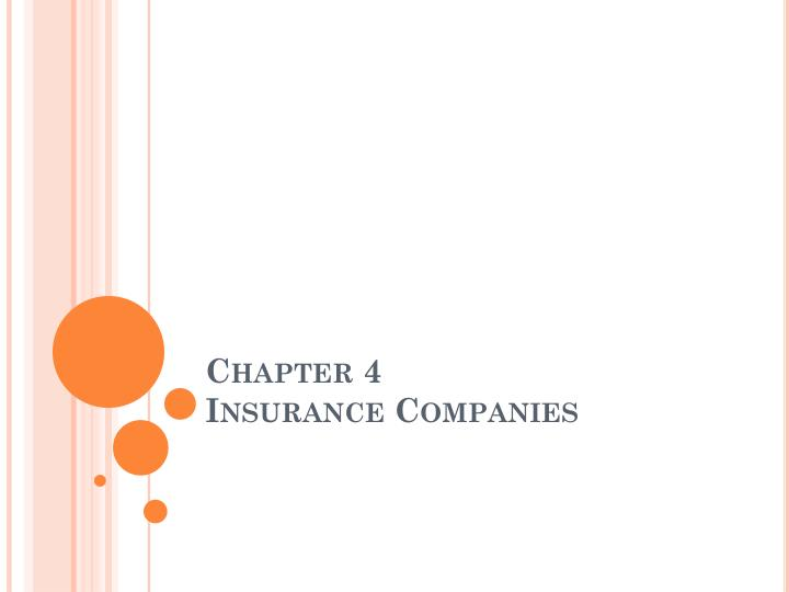 chapter 4 insurance companies n.