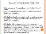 gramm leach bliley glb act