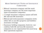 most important types of insurance companies