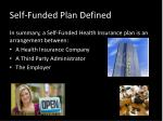 self funded plan defined