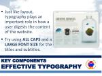 key components effective typography