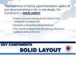 key components solid layout