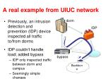 a real example from uiuc network