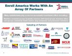 enroll america works with an array of partners