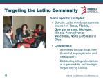 targeting the latino community