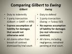comparing gilbert to ewing gilbert ewing