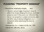 pleading property damage1