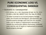 pure economic loss vs consequential damage5