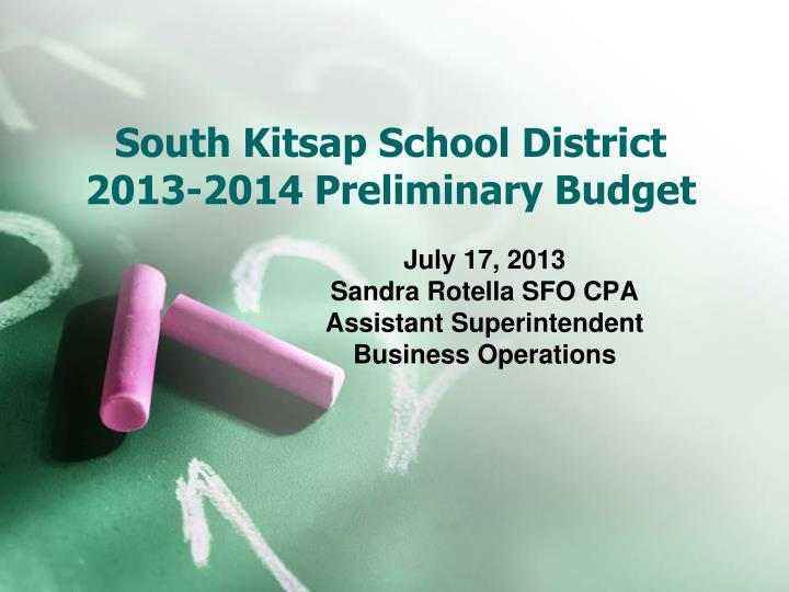 south kitsap school district 2013 2014 preliminary budget n.