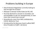problems building in europe