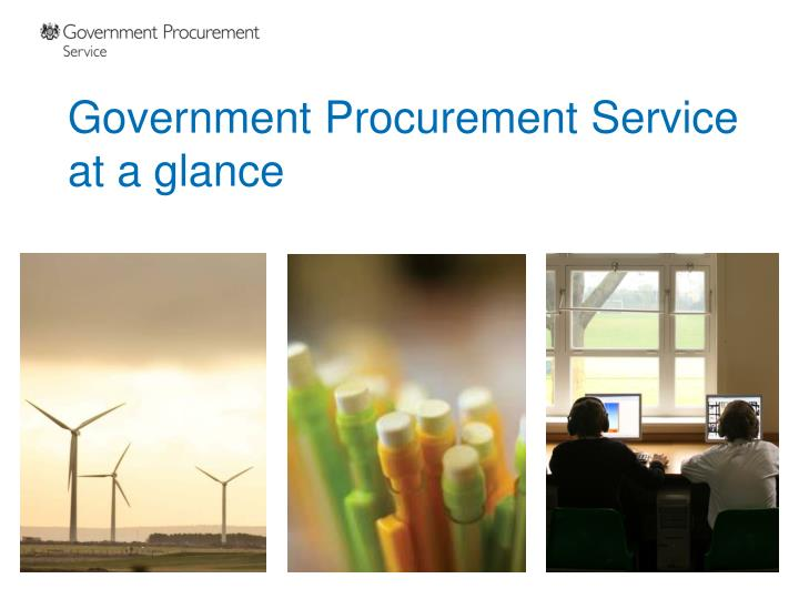 government procurement service at a glance n.