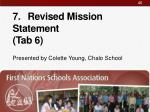 7 revised mission statement tab 6
