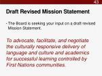 draft revised mission statement