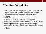 effective foundation