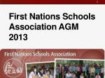 first nations schools association agm 2013