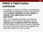 fnesc fnsa position continued