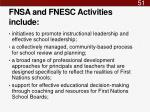 fnsa and fnesc activities include