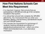 how first nations schools can meet this requirement1
