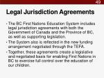 legal jurisdiction agreements
