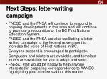 next steps letter writing campaign