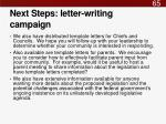 next steps letter writing campaign1