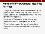 number of fnsa general meetings per year
