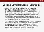 second level services examples1