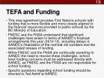 tefa and funding