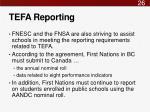 tefa reporting