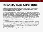 the aandc guide further states