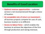 benefits of good location1