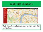 multi site locations