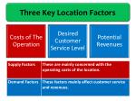 three key location factors