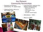 key element community partnerships