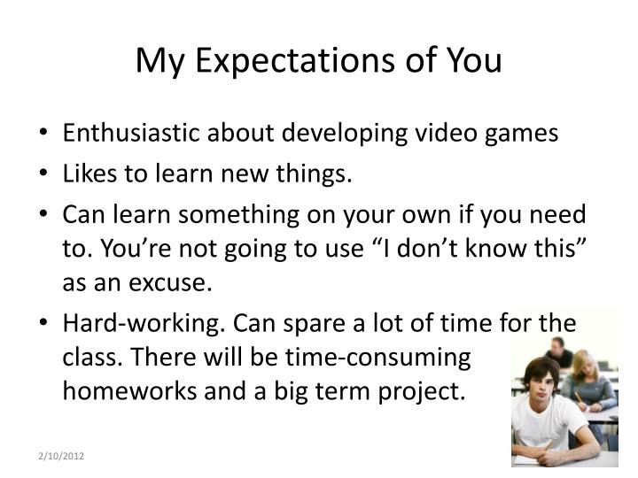 My Expectations of You