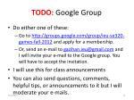 todo google group