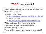 todo homework 1