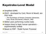 keystroke level model
