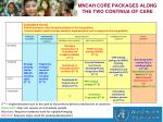 mncah core packages along the two continua of care