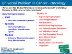 universal problem in cancer oncology