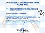 occupational trainee visas sub class 4421