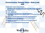 occupational trainee visas sub class 4422