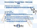 occupational trainee visas sub class 4423