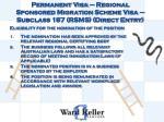 permanent visa regional sponsored migration scheme visa subclass 187 rsms direct entry1
