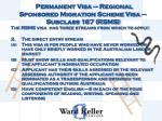 permanent visa regional sponsored migration scheme visa subclass 187 rsms3