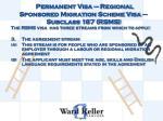permanent visa regional sponsored migration scheme visa subclass 187 rsms4