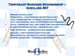 temporary business sponsorship subclass 457