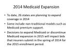 2014 medicaid expansion
