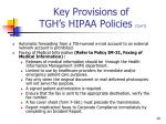 key provisions of tgh s hipaa policies con t3